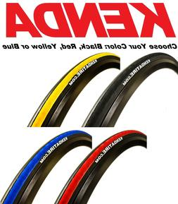 1 or 2Pak Kenda K1081 Kadence 700 x 23 Road Bike Tire Black
