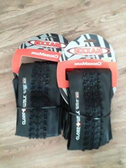 "1 PAIR Maxxis Crossmark MTB Tyres. 26 x 2.10"" Black Mountain"