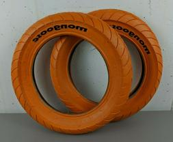 Mongoose 12 1/2 inch x 2 1/4 Pair  Orange Bike Tires