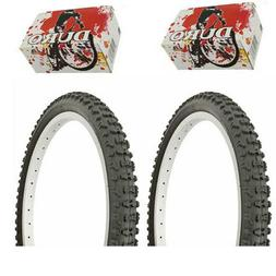 "1PAIR! Duro Bicycle Bike Tires & Tubes 20"" x 2.10"" Black/Bla"