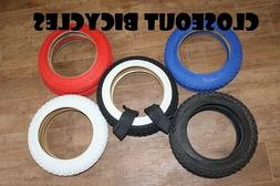2 BICYCLE TIRES/TUBES 5 Colors! 12-1/2 X 2-1/4'' KIDS BIKE S