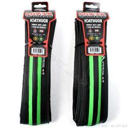 2 Pack - Kenda Kountach 700x25C Green / Black K1092 Road Bik