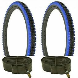 "2 TIRE- 26""X2.10"" BLUE SHOULDER BLACK WALL DURO MOUNTAIN BIK"