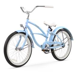 Girl's 20 Urban Beach Cruiser Bicycle, Baby Blue