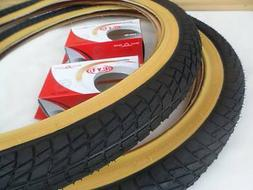 20 x 1.95 BMX Bike Tires for Street Road Slick Includes Tube