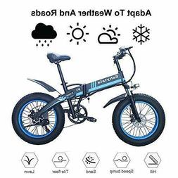 "Folding Electric Bike 20""Fat Tire E-Bike 350W 36V Mountain C"