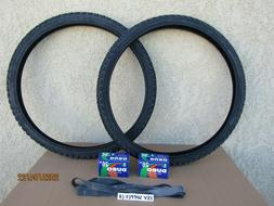 26'' X 1.95 ALL BLACK BICYCLE TIRES,  TUBES &  LINERS FOR ,