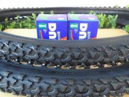 "26 x 1.95 Bicycle Tires + Tubes Mountain Bike 26"" NEW 26x1.9"