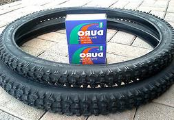 "26x2.10 DURO MOUNTAIN BIKE TIRE SET & 2-26"" DURO INNER TUBES"