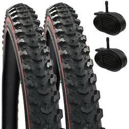 """2X Raleigh Cst Eiger Redline 26"""" X 1.95 Mtb Bike Tyres And S"""