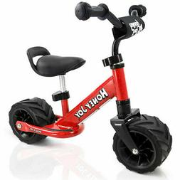 6.5'' Kids Balance Bike No Pedal Adjustable Height Wide PU T