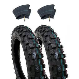 SET OF TWO: Knobby Tires 2.50-10  Front/Rear Tube Type Off R