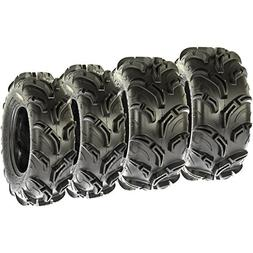 Set of 4 SunF Warrior AT Mud & Trail 25x8-12 Front & 25x10-1