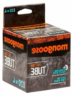 Mongoose Bicycle Tube for Fat Tire Bikes, Schrader Valve, Mu