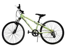 "Ryda Bikes Tahoe - 24"" Green Youth Unisex Bike - 8 Speed All"