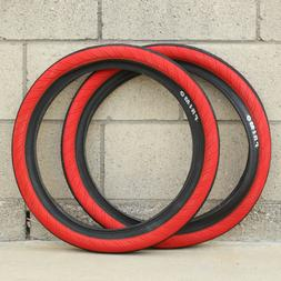 """PRIMO BMX BIKE STEVIE CHURCHILL 20 X 2.45"""" BICYCLE TIRES RED"""