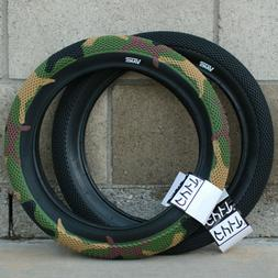 "CULT BMX VANS BICYCLE TIRE 12"" 16"" or 18"" BLACK GREEN CAMO"