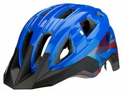 Mongoose Boys Zone Helmet, Blue Lines