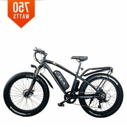 BPM F55 750W 13AH 48V 26' FAT TIRE ELECTRIC BIKE BICYCLE RAC