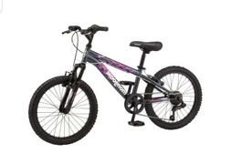 Mongoose Byte Mountain Bike, 20-inch wheels, 7 speeds, girls
