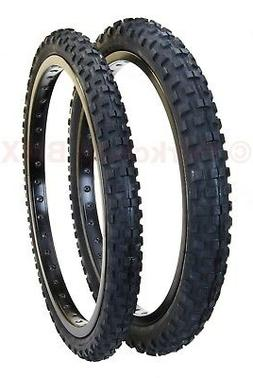 "Cheng Shin C1244 KNOBBY old school BMX bicycle tires 20"" STA"