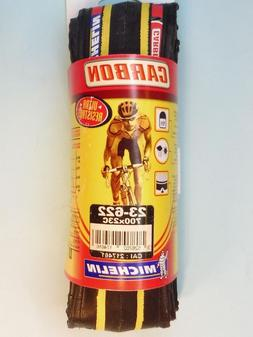 Michelin Carbon Bk / Yellow road bicycle tyre 700x23 - NOS