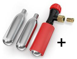 CO2 Inflator Kit by BICYKIT & Easy Bicycle Tire Pump for Roa