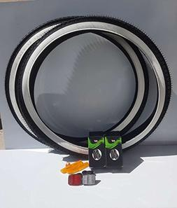 Duro Cruiser Bike Combo 26 inch White Wall Tires and Tubes F