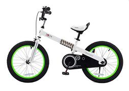 "RoyalBaby CubeTube Buttons 18""  Bicycle for Kids, Green"