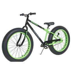 Krusher Mens Dynacraft Fat Tire Bike, Black/Green, 24""