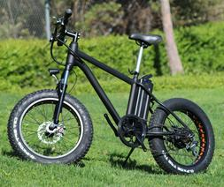 Electric Bicycle 20x4 Fat Tire 6 Speed MTB Beach Bike Front