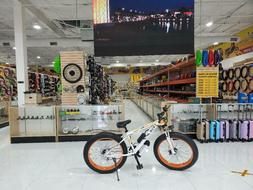 """ELECTRIC BICYCLE 26"""" FAT TIRE 36 VOL 500 WATTS, WHITE AND OR"""