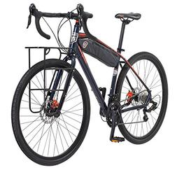 Mongoose Men's Elroy Adventure Bike 700C Wheel Bicycle, Blue