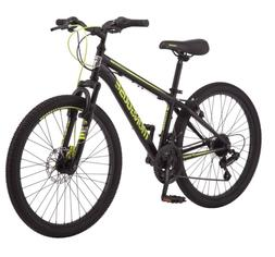 "Mongoose Excursion Mountain Bike, 24"", 21 Speed - Black/ Yel"