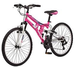"Mongoose Girls Exlipse Mountain Bike, 24""/One Size, Pink"
