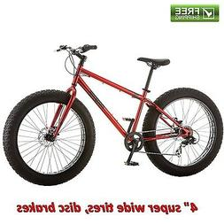 fat tire 26 mountain bike red all