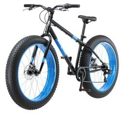 Mongoose Fat Tire Bike Men's Black Steel Frame 7 Speed Off R
