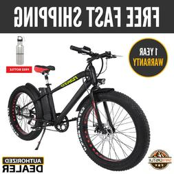 "26"" 300W Fat Tire Electric Bicycle 6-Speed Beach Snow 36V10A"