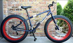 Fat Tire Mountain Bike 7-Speed Shimano Drivetrain & 26-Inch