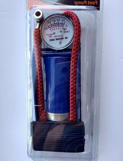 Foot Air Pump Inflates up to 100 psi Inflate Vehicle Tires/B
