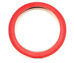 """Sunlite Freestyle BMX Kontact Tires, 20"""" x 1.95"""", Red/Red"""