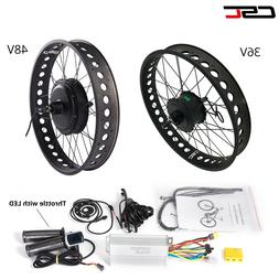 36V 48V Front Rear Fat Tire Electric Bike Conversion Kit 20
