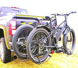 Hitch Big Fat Tire Bike Rack Mount Trailer Tray SUV Universa