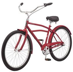 "Schwinn Huron Men's Cruiser Bike, 3-Speed, 26"" Wheels, Red"