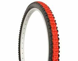Duro Knobby Tread Mountain Bike Tire 26in x 2.10in, Red Cent