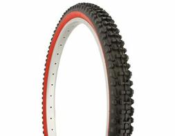 Duro Knobby Tread Mountain Bike Tire 26in x 2.10in, Red Wall