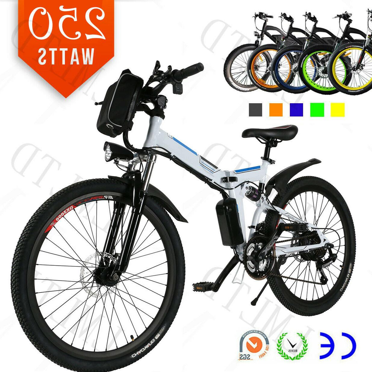 26 electric fat tire bike mountain bicycle
