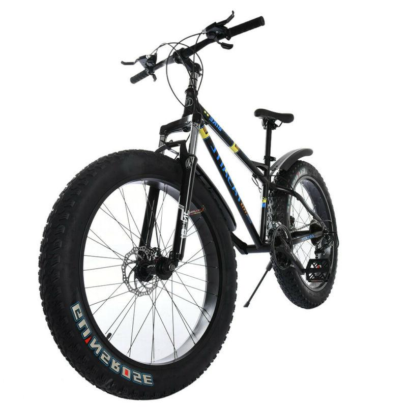 "21 Speed 26"" Bicycle Dual Suspension Shock 4.0 Tire Bike"