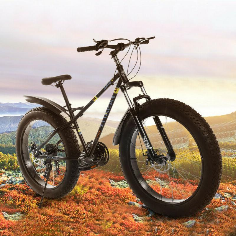 """21 Speed 26"""" Mountain Bicycle Dual Suspension Shock 4.0 Fat"""