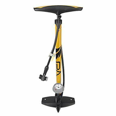 BV Bicycle Ergonomic Bike Floor Pump with Gauge & Smart Valv